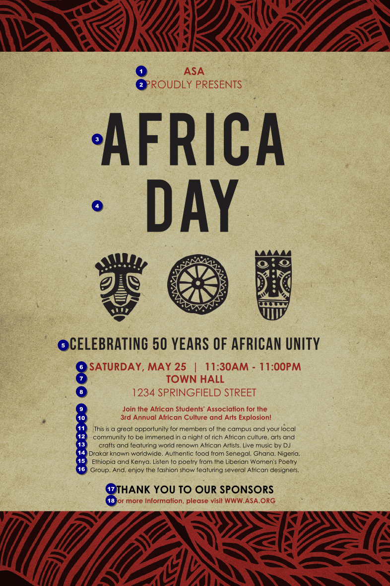 african theme poster