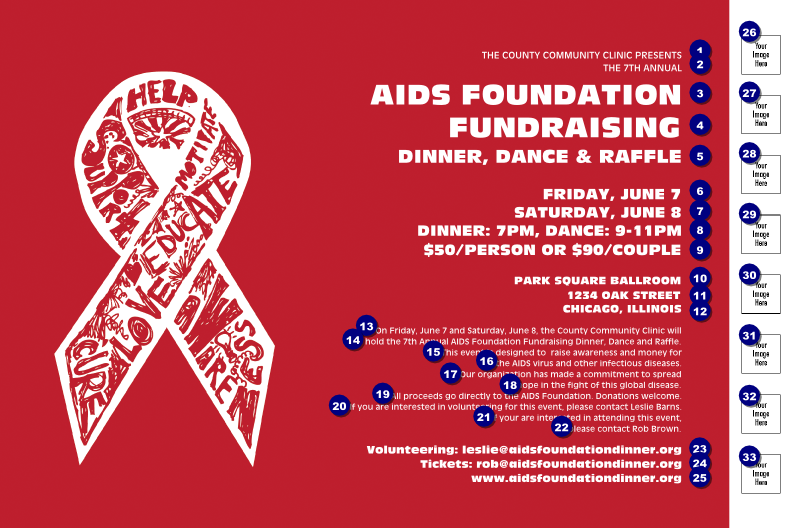 AIDS Fundraising Event Poster with Image Upload ...