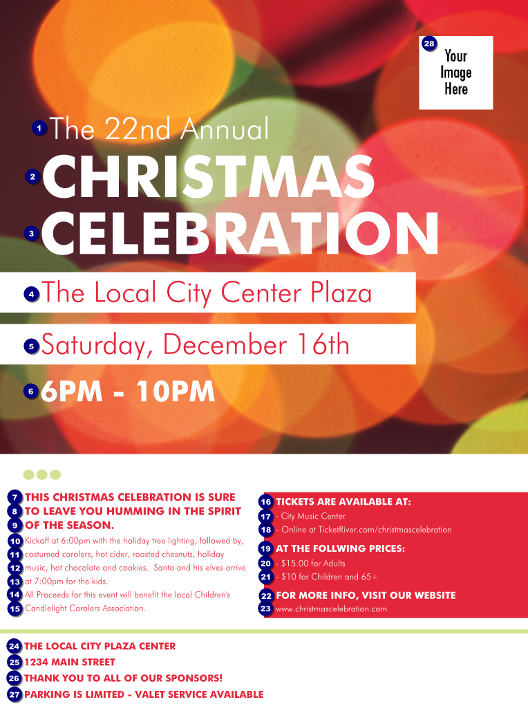 Christmas cubicle decorating contest - Holiday Event Flyer Template Viewing Gallery