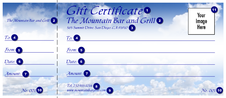 making a gift certificate online free