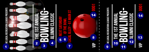 Bowling Classic Event Ticket Ticketprinting Com