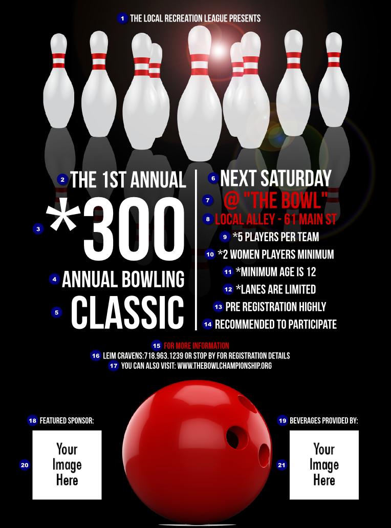 Bowling Classic Flyer Ticketprinting Com