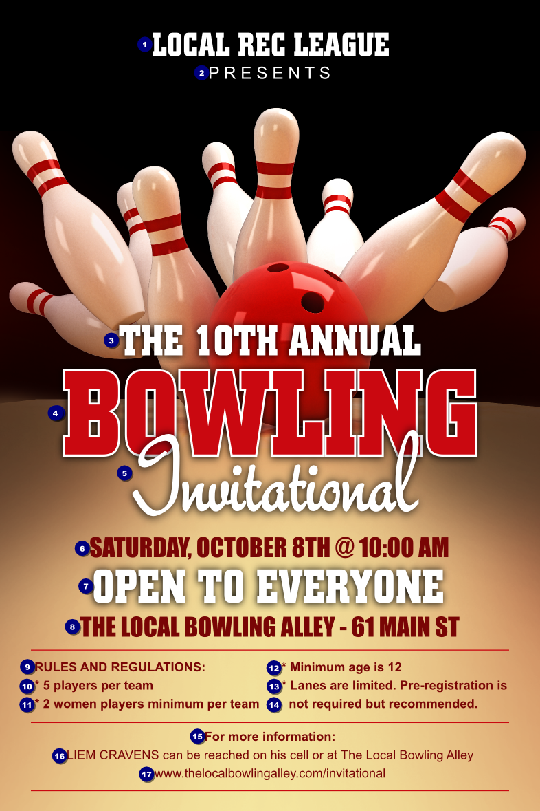 Bowling League Poster