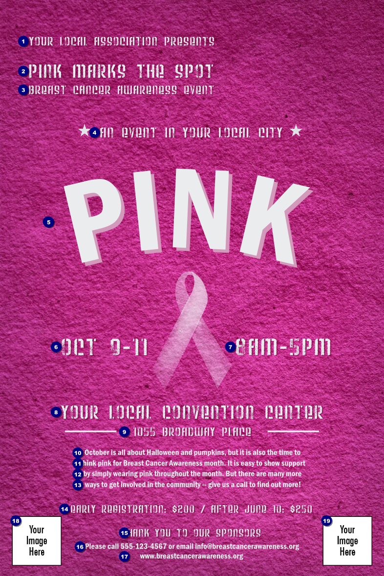 Breast Cancer Pink Ribbon Poster TicketPrintingcom