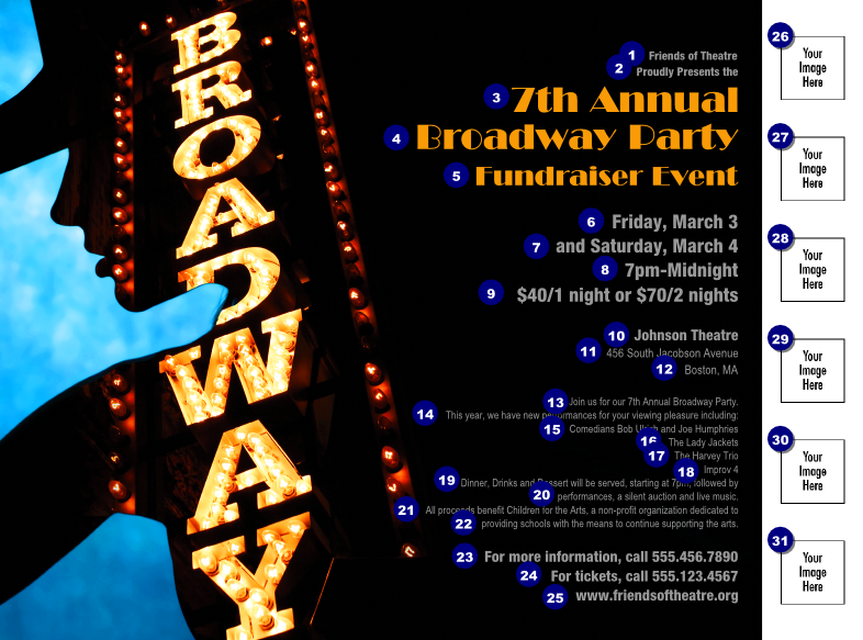 Broadway Flyer with Image Upload | TicketPrinting.com