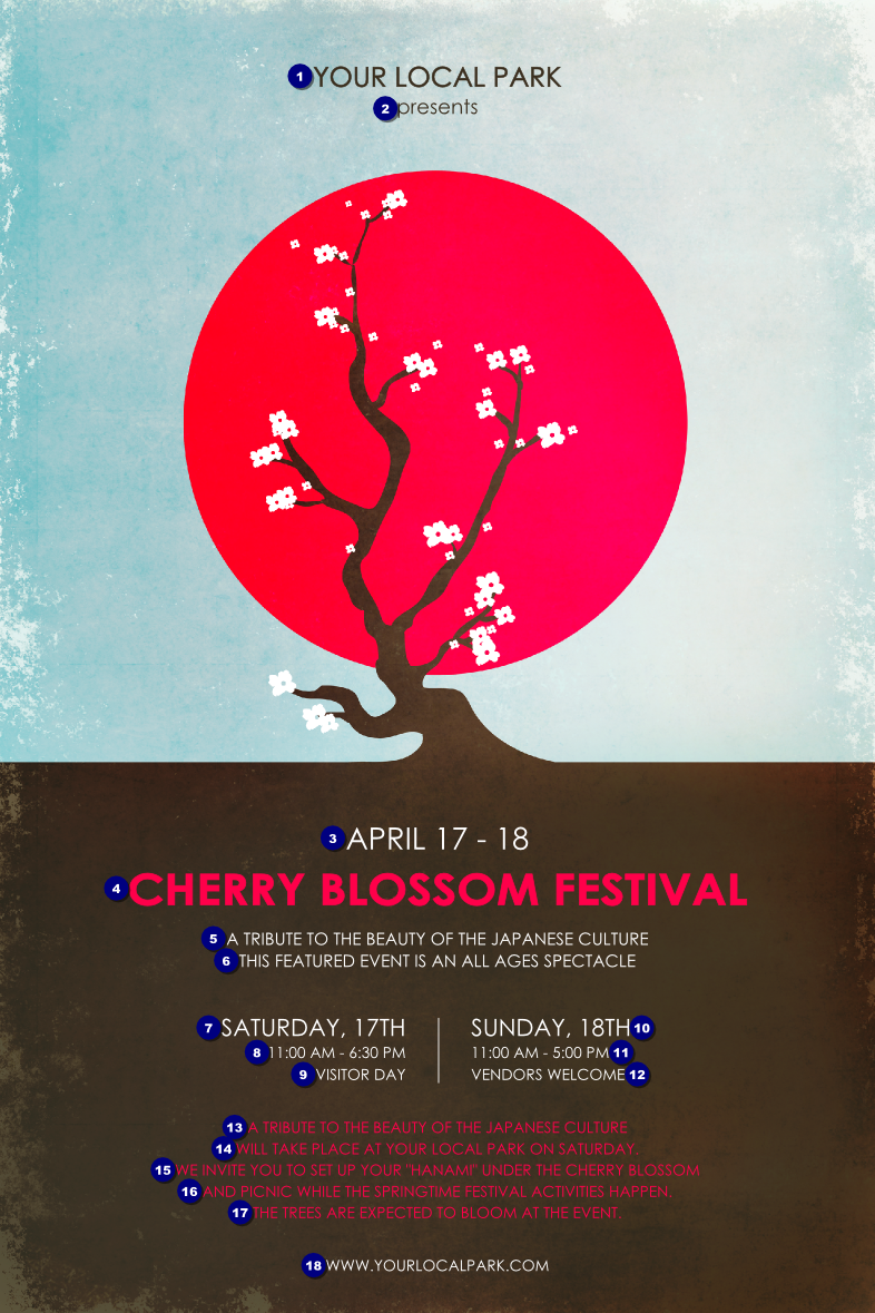 Cherry Blossom Circle Poster | TicketPrinting.com