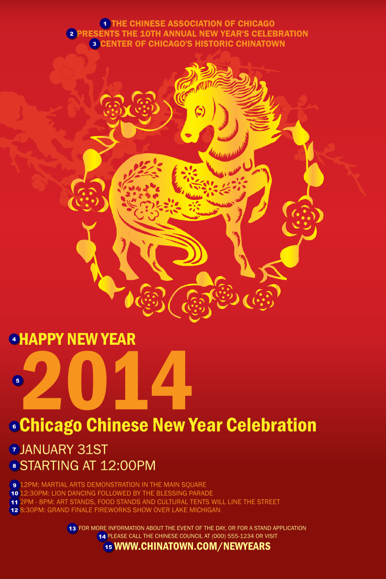 Chinese New Year 2014 Poster Ticketprinting Com