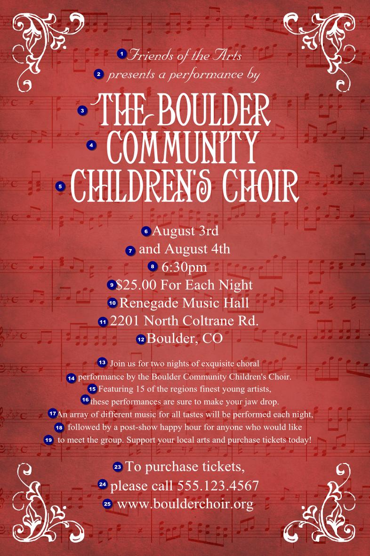 Choir Concert Flyer Template