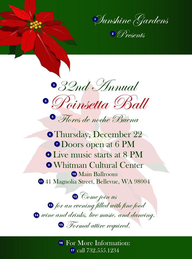 holiday flyersChristmas Poinsettia Flyer 002 TicketPrintingcom CwgpqPuq
