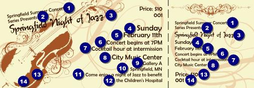 Concert Ticket Outline Concert Tickets Template