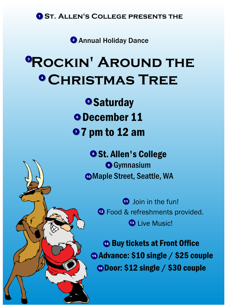 Cool Christmas Flyer 002 | TicketPrinting.com