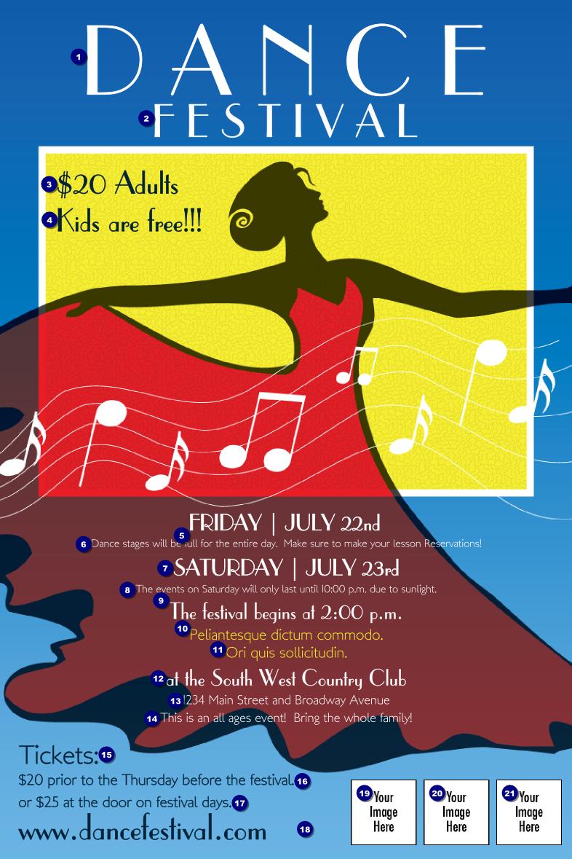dance festival poster