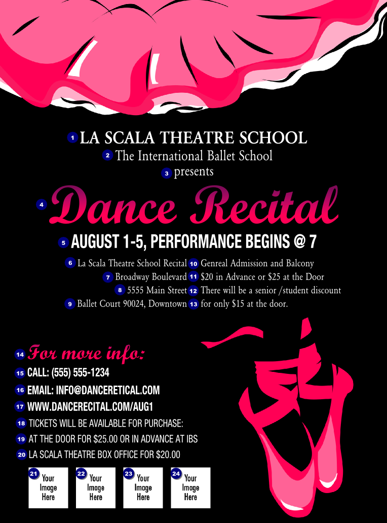 Dance Recital Flyer Ticketprinting Com