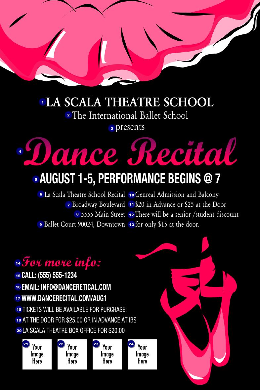 Dance Recital Poster | TicketPrinting.com