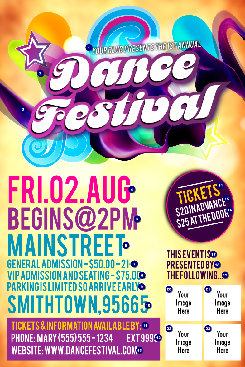 disco dance festival poster ticketprinting