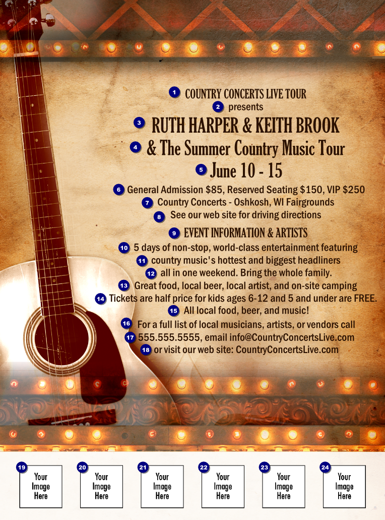 Country Music Concert Flyer
