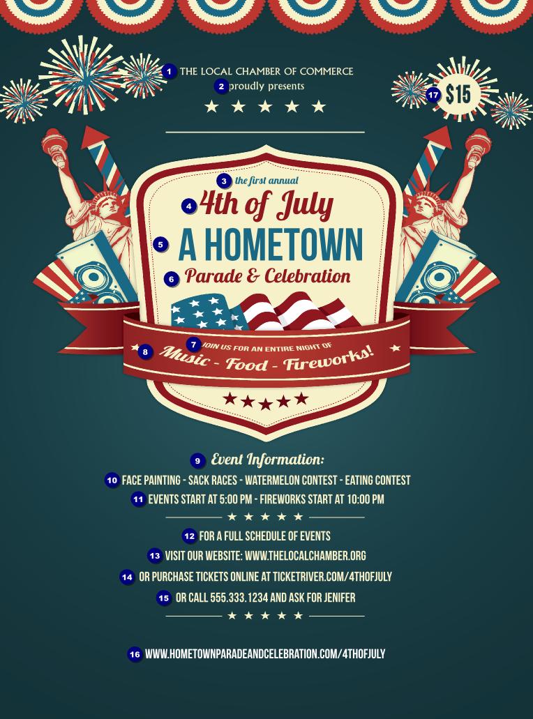 fourth of july freedom blue flyer