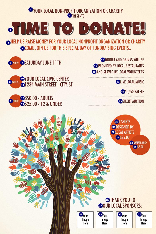 Fundraiser Tree Poster | Ticket Printing