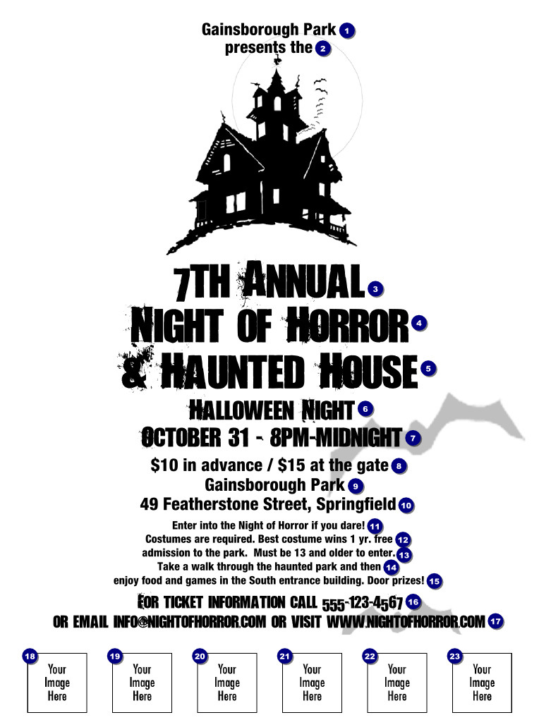 haunted house flyer 001