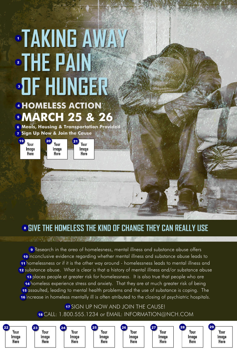 Homeless & Hungry Logo Poster | TicketPrinting.com