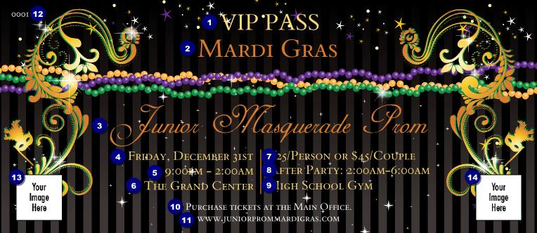 mardi gras beads vip pass