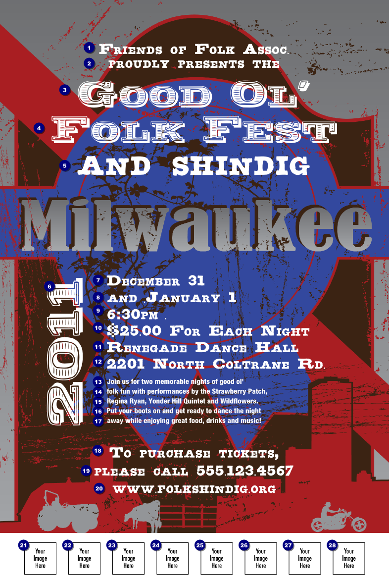 Milwaukee Poster Ticket Printing
