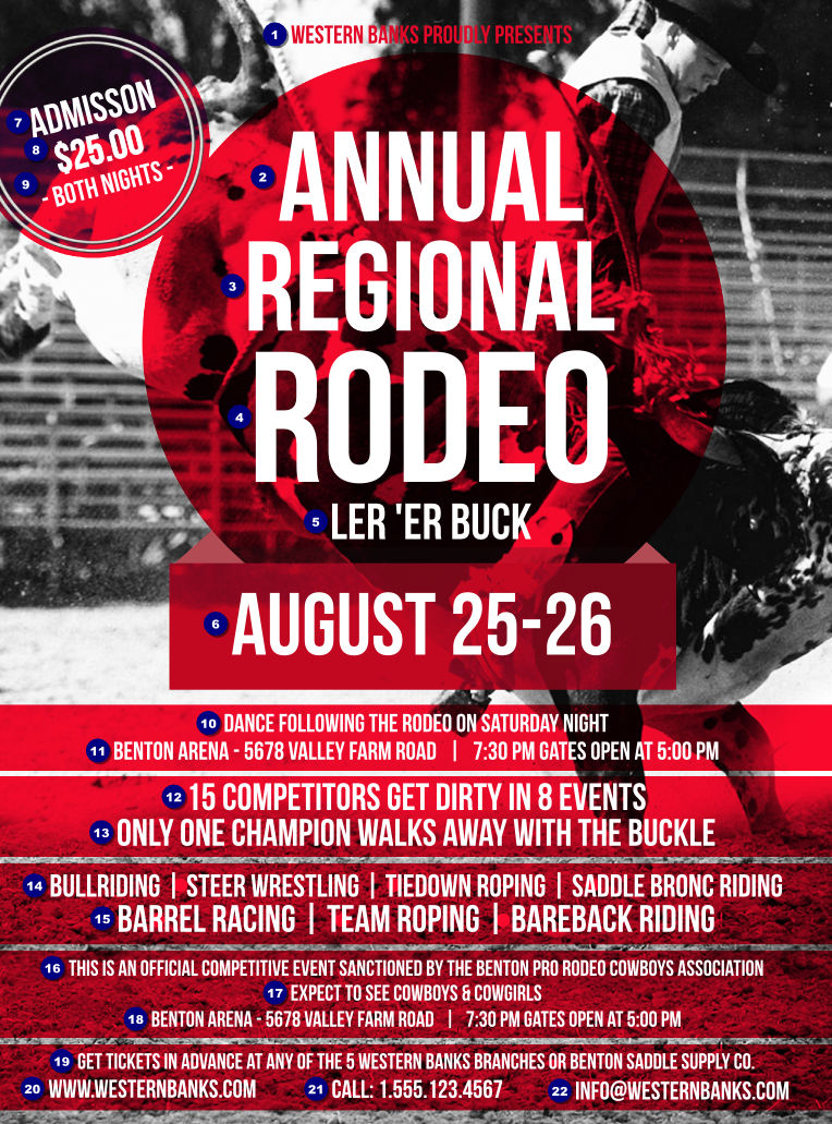 Modern Rodeo Flyer Ticketprinting Com
