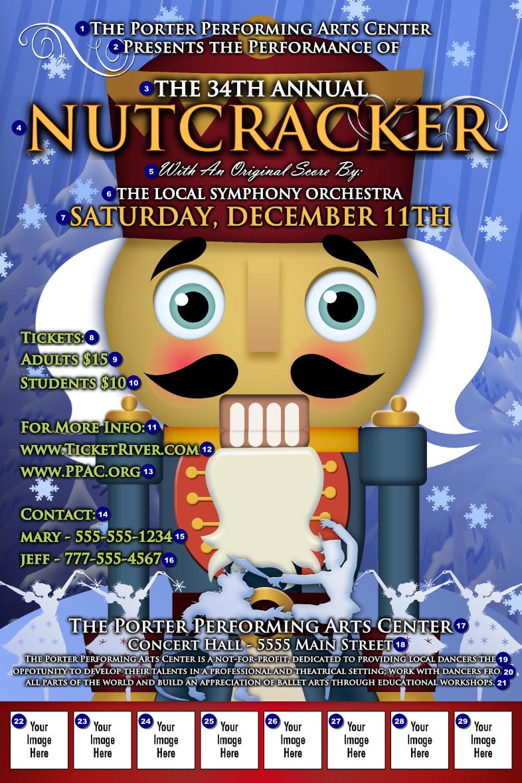 nutcracker ballet logo poster