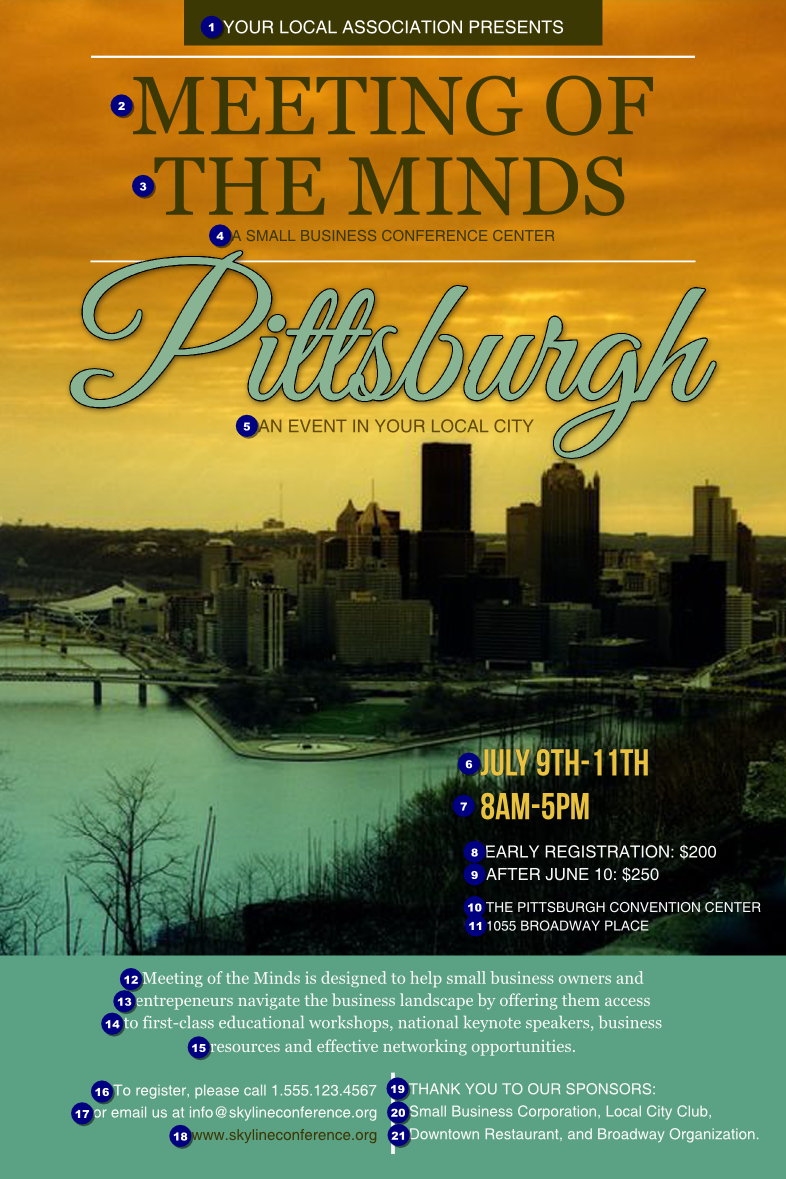Pittsburgh Poster Ticket Printing