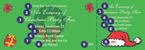 Christmas Party Ticket Template Free Rainforest Islands Ferry