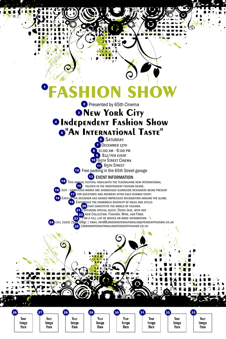 What is fashion show invitation template sitestatrcom for Fashion show ticket template