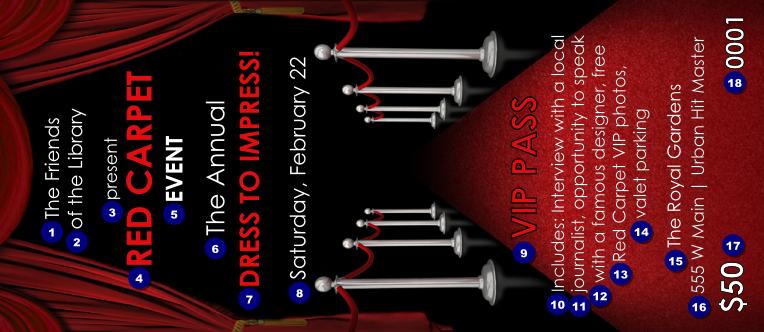 Vip Pass Template Vip Guest Pass Template