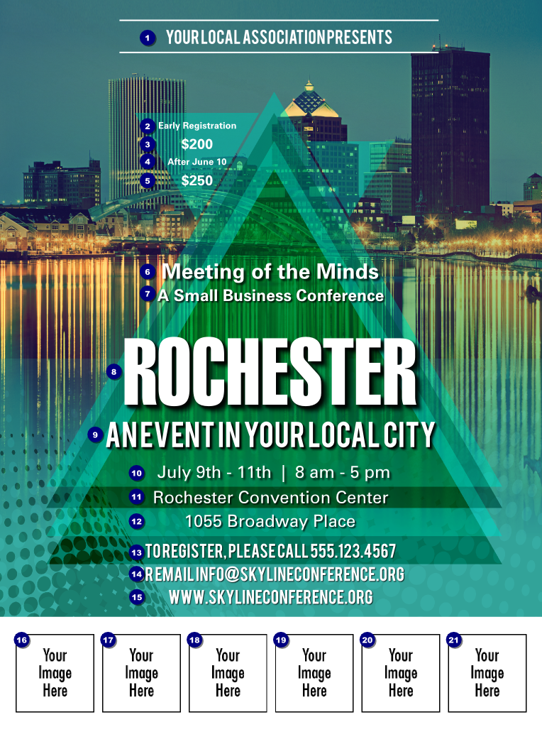 Rochester Logo Flyer Ticket Printing