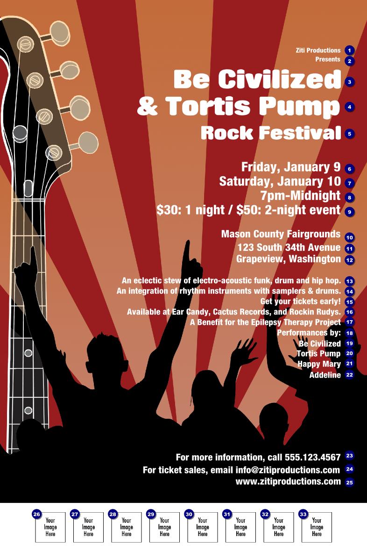 Rock Concert Poster Ticketprinting Com