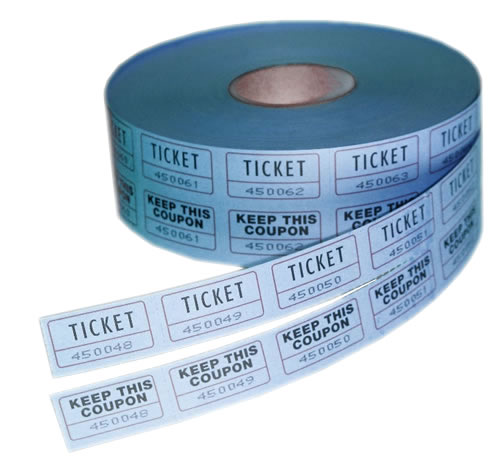double roll tickets blue