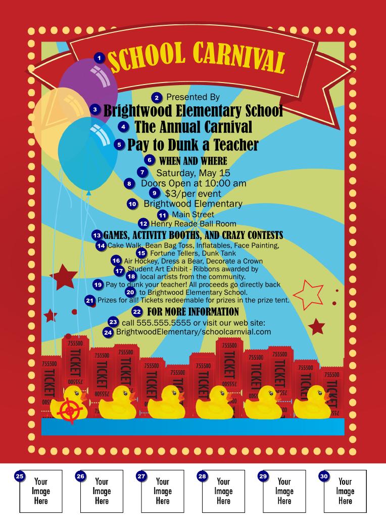school carnival flyer ticketprinting