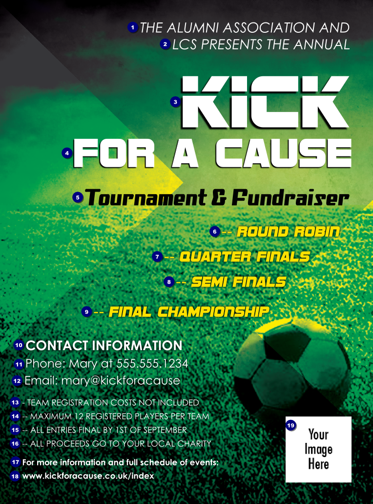 fundraising flyer template postermywall share on football soccer field flyer ticketprinting com