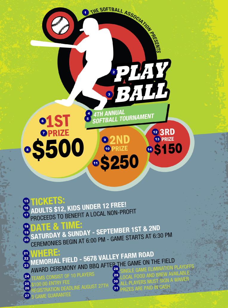 Softball Flyer | TicketPrinting.com