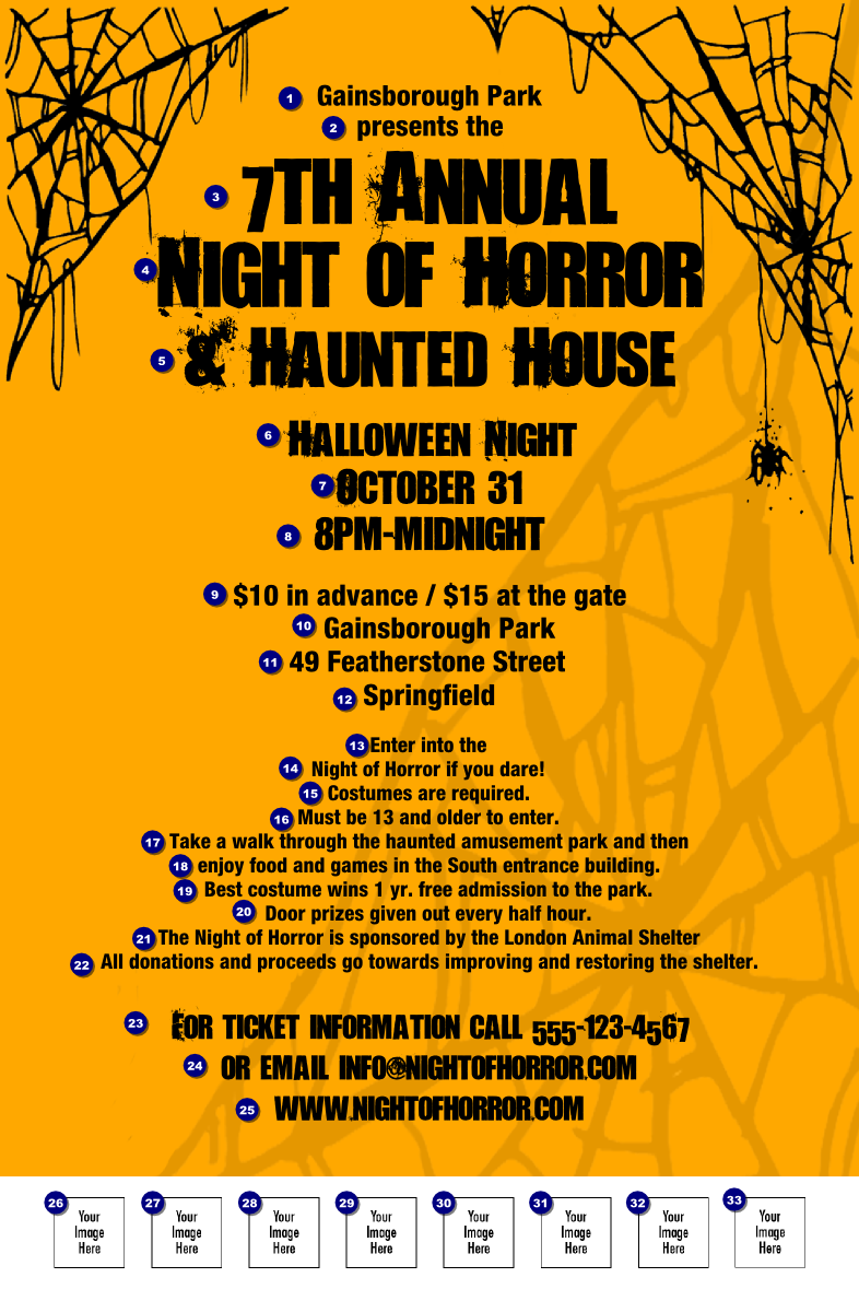 halloween raffle flyer template related keywords spider web poster 004 ticketprintingcom