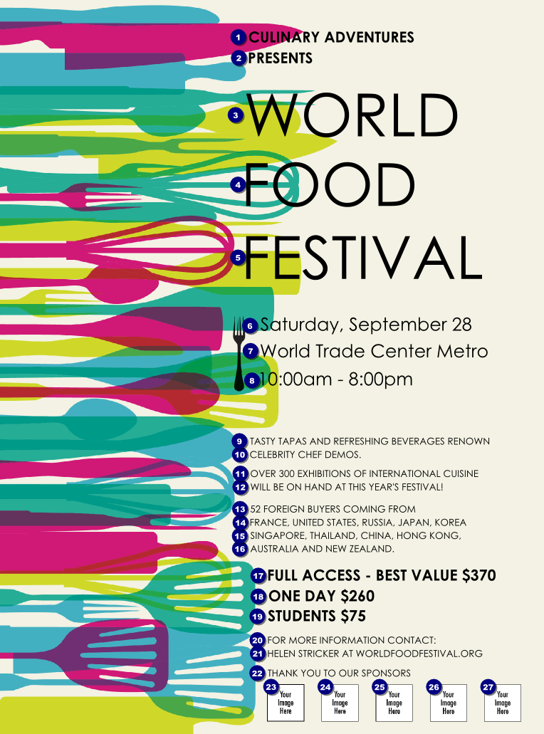 World food festival flyer for Design your own food truck online