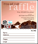 Montana State University Ad Club Raffle Ticket