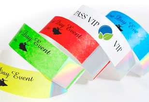 Tyvek Hologram Wristbands