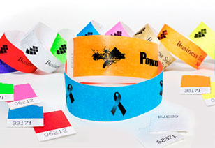 Tyvek Stubbed Wristbands