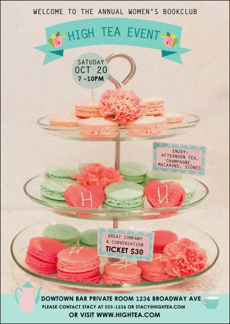 High Tea Club Flyer