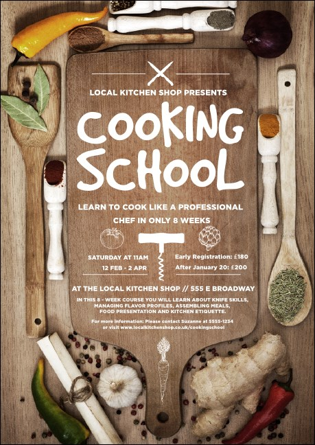 Cooking School Club Flyer