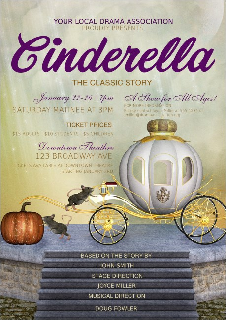 Cinderella Club Flyer