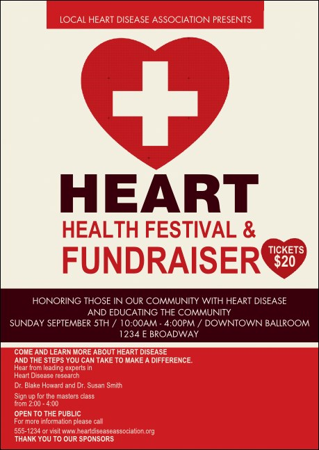 Heart Health Club Flyer Product Front