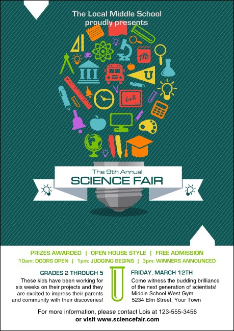 science fair club flyer