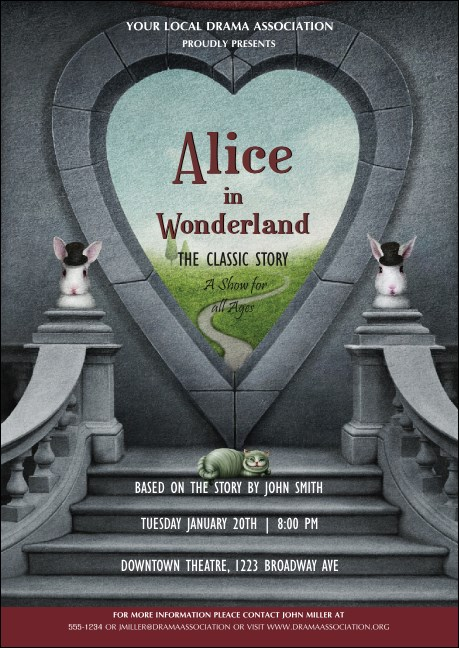 Alice in Wonderland Club Flyer