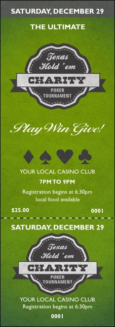 Texas Hold 'Em Event Ticket